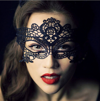 1 x Vampire Diaries style Cat Catwoman Mask Woman Costume Sexy Lace Masquerade Ball Black