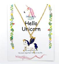 25 phong cách Vòng Cổ cho Cô Gái Unicorn Thẻ Mặt Dây Chuyền Wihoo Ngựa Phụ Nữ Mặt Dây Chuyền Trẻ Em Vàng Đồ Trang Sức Thời Trang Quà Tặng Trẻ Em Men Pop(China)