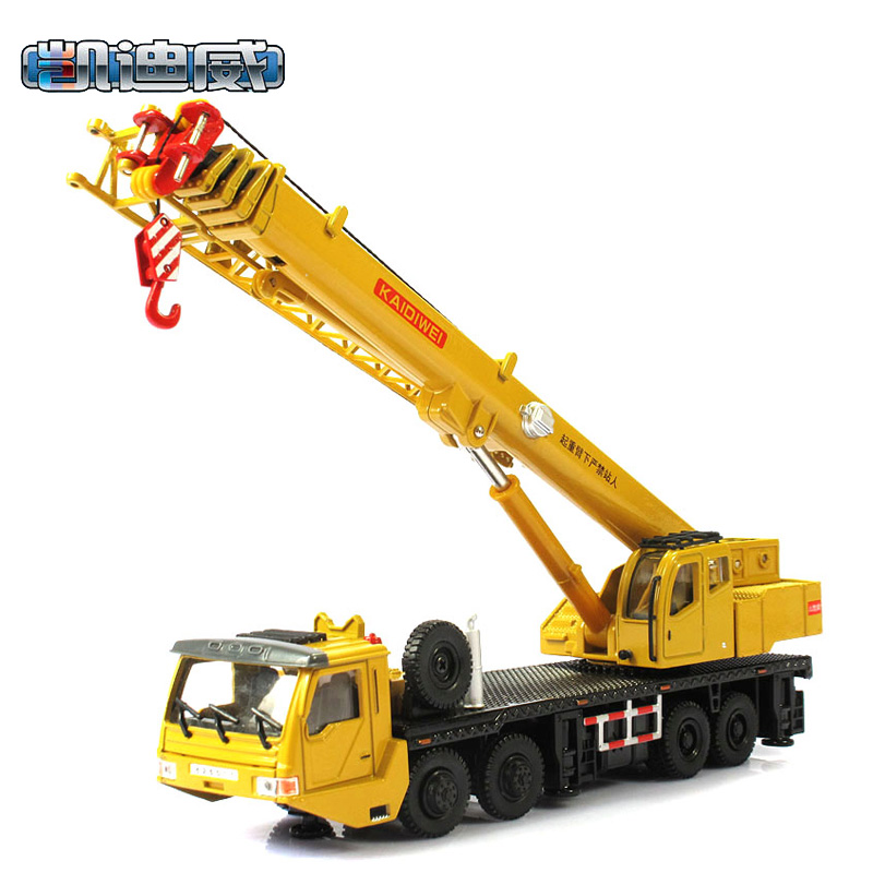 Brand New 1/55 Scale Car Toys KAIDIWEI Heavy Duty Crane Diecast Metal Car Model Toy For Gift/Children -Free Shipping(China (Mainland))