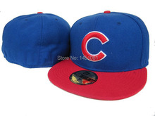 Chicago Cubs Baseball Team Fitted Hats Sport Brand Name Hip Hop snap back Caps baseball Closed Hats Cheap Price free shipping(China (Mainland))
