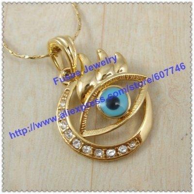 Evil Eye 18K gold plated pendant FJ F1640041 .10 2pcs/lot
