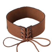 2018 FASHION!7colors Dropshipping High Quality Velvet Tie Up Wide Choker Necklace Gothic Suede Collar Sexy Women Neck Jewelry(China)