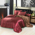Night Tender letters embroidered silk bedding set duvet cover sheet pillow cases 4pcs king queen size