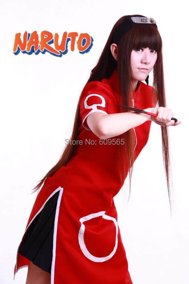Free Shipping!2014!Anime Naruto Haruno Sakura Cosplay Costume Dress, headband, weapon set, can out bag,a pair of shoes
