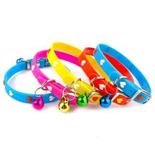 12pcs/lot Colorful Rubber Puppy Dog Kitten Cat Collar with Bell for Small Breeds Bone/Paw/Heart pattern(China (Mainland))
