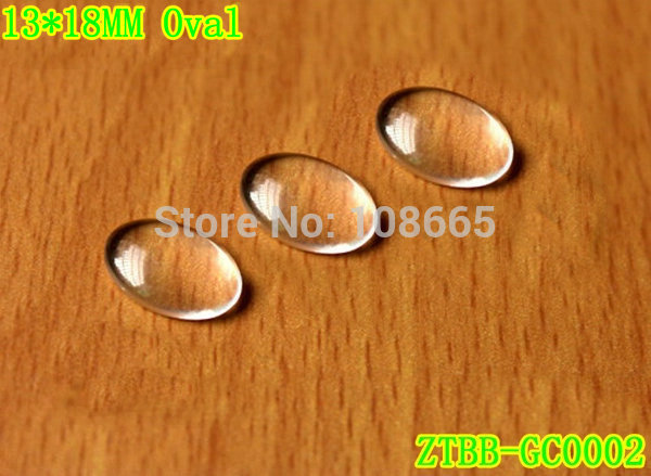 Fashion Clear Oval Glass Cabochon,13*18mm cabochon,flat back,cabochon setting;use for different jewelry;200pcs/lot(China (Mainland))