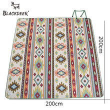 LACKDEER Camping Mat For Family Nation Style Printed Thicken Waterproof Picnic Beach Mat Child Play Spring Machine Washable(China)