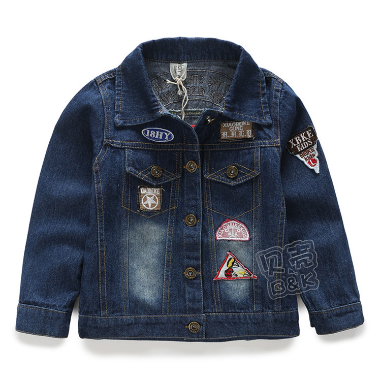 2015 spring and autumn new style little boys casual coats baby boys cowboy coats boys fashion outerwear A2177(China (Mainland))