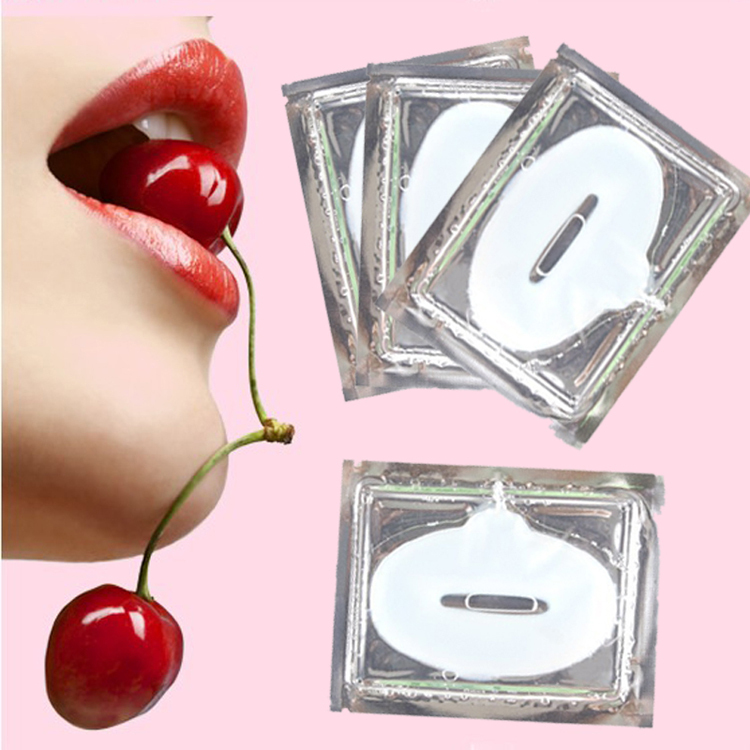 10 pcs Crystal Collagen lip Mask lip care pads super Moisture essence anti ageing wrinklle patch pad M01299