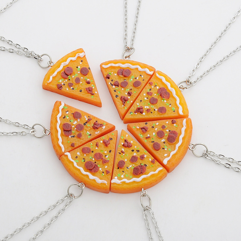 Hot splicing seven friends Friendship pizza lovers explosion models wholesale trade in Europe and America necklace(China (Mainland))