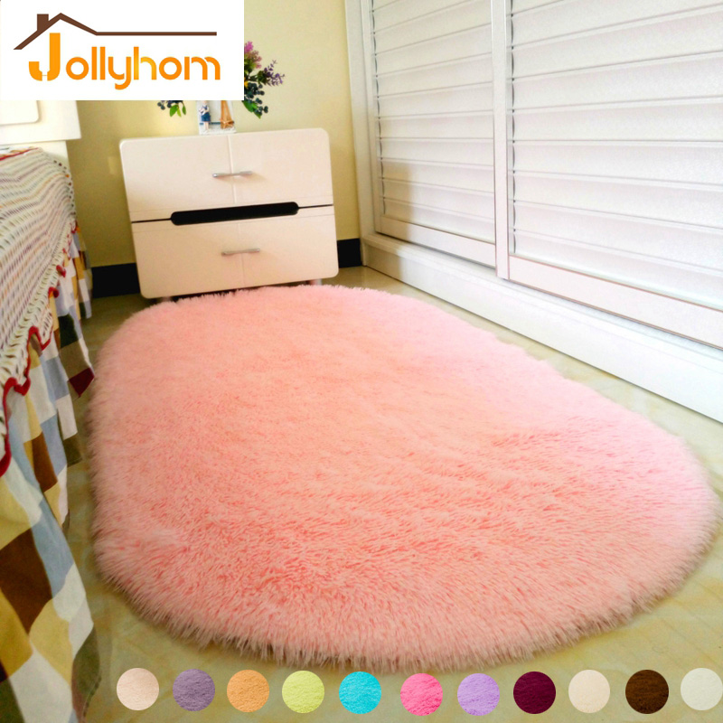 shape pink area rug bedroom living room long hair shaggy soft carpet
