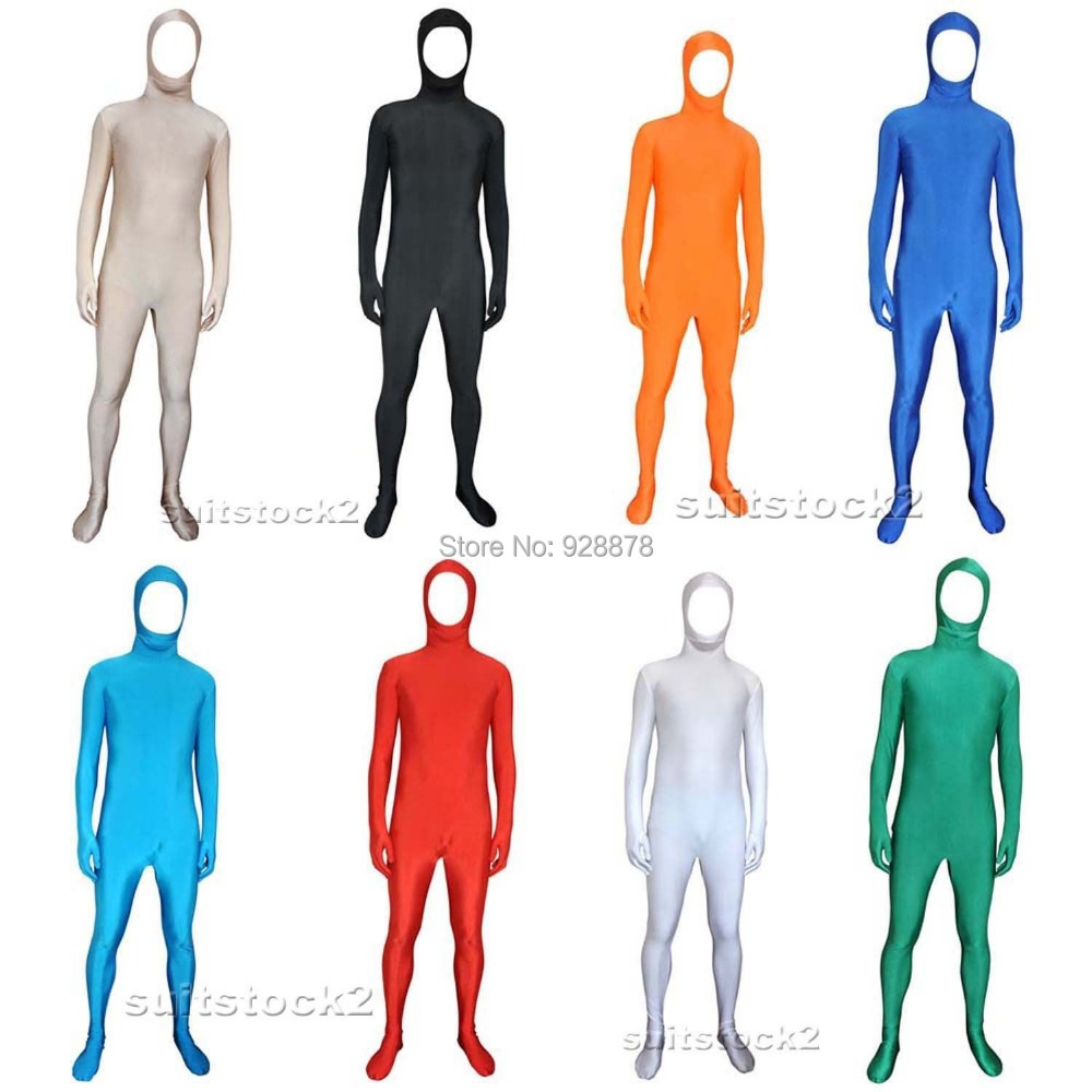 Lycra Spandex Skin Suit Catsuit Halloween Party Zentai Bare face Costumes Unisex / Back Zipper , XS/S/M/L/XL/XXL - Online Store 928878 store