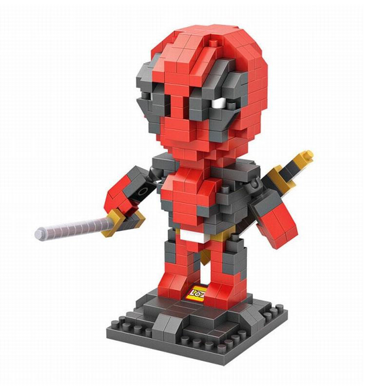 LOZ Diamond Building Blocks Deadpool Hero Iron Man Captain America Super Hero Marvel Children's Best Gift Fun Toys Mini Bricks(China (Mainland))
