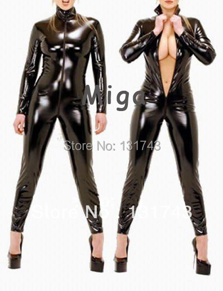 Fancy rubber tight catsuit full cover body latex clothing women - Miga Online store