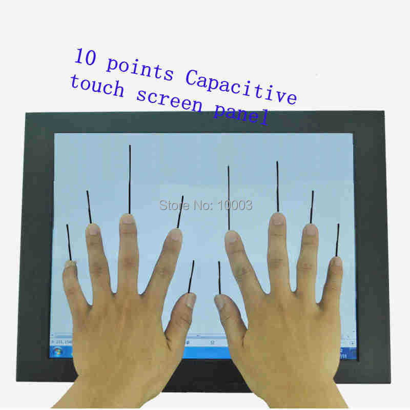 10.4 inch 4:3 Capacitive multi Touch Screen Panel 10 Points USB Controller Win 7,8 USB For Industrial Touch Screen Monitor(China (Mainland))