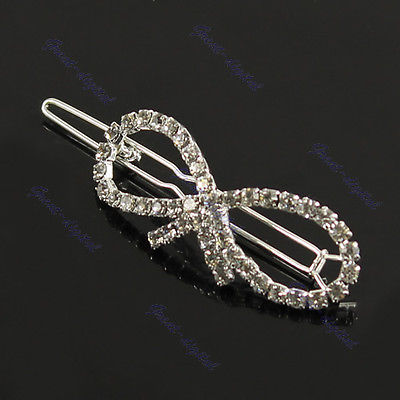 Women Fashion Cute Crystal Butterfly Barrette Clip Hairpin Hair Pin Accessories(China (Mainland))