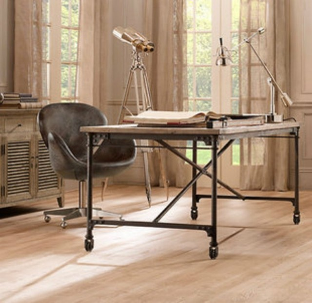 loft american country to do the old industrial style retro desk computer desk table wood coffee american retro style industrial furniture desk