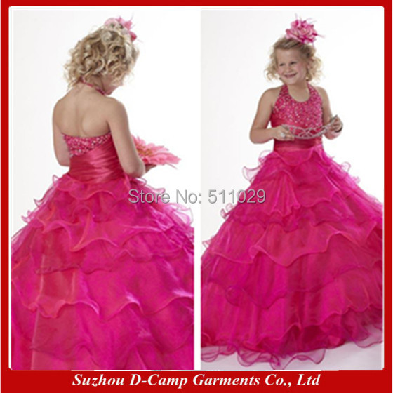 Free shipping fg 178 wine red puffy princess ball gown for 10 year old dresses for weddings