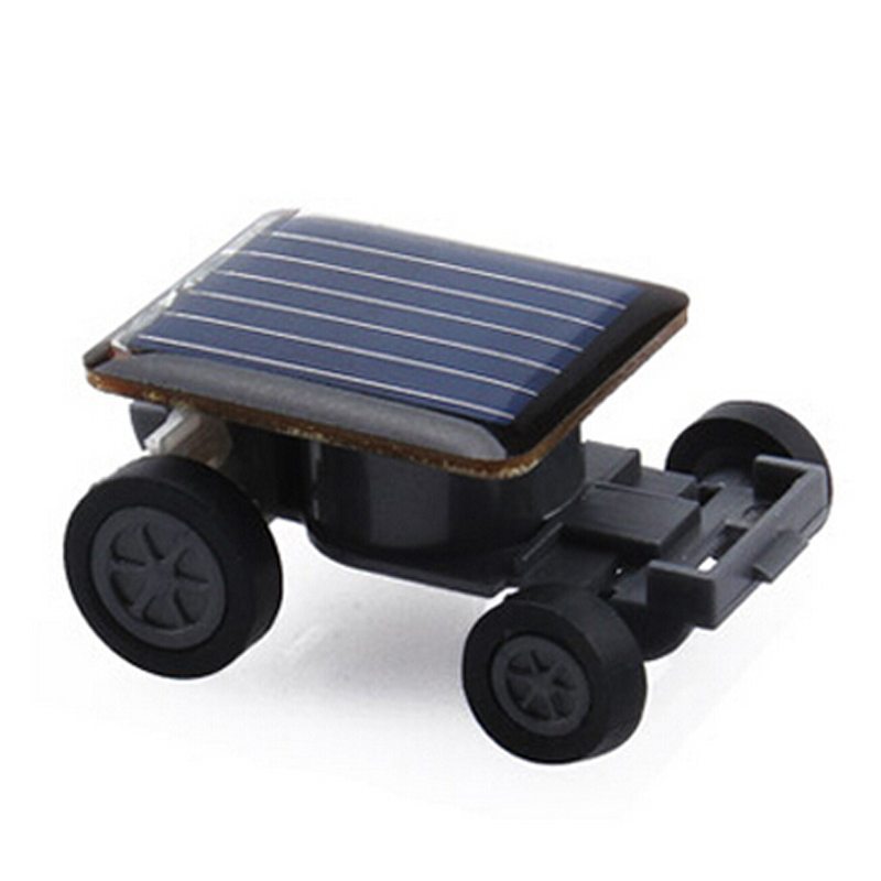 Lovely Solar Power Mini Toy Car Racer The World's Smallest Educational Gadget For Kids Baby Children Gift, Free Shipping(China (Mainland))