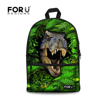 Fashion 3D Dinosaur Printing Children School Bags Casual Kids Leopard Schoolbag for Boys Student Bookbag Mochila infantil(China (Mainland))