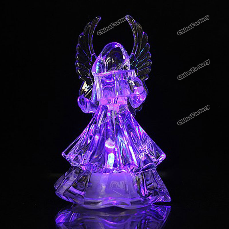 chinafactory quality assurance Angel 7 Colors Changing LED Icy Crystal Christmas Decoration Night Light buying quickly(China (Mainland))