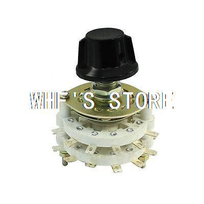 Plastic Structure 2P6T 2 Pole 6 Position Channel Rotary Switch Selector(China (Mainland))