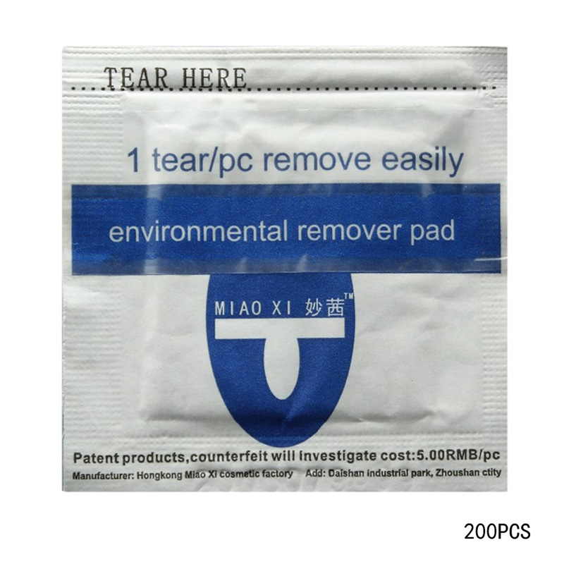 T2N2 Fashion 200pc Foiled UV Gel Nail Polish Remover Wraps Pad Nail Art Cleaner Acetone Free Shipping(China (Mainland))