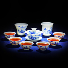 Buy 10 Pcs, landscape,calvings glaze tea set purple kung fu cup, suit Puer, Black Tea,Tieguanyin,Green Tea,White tea for $79.20 in AliExpress store