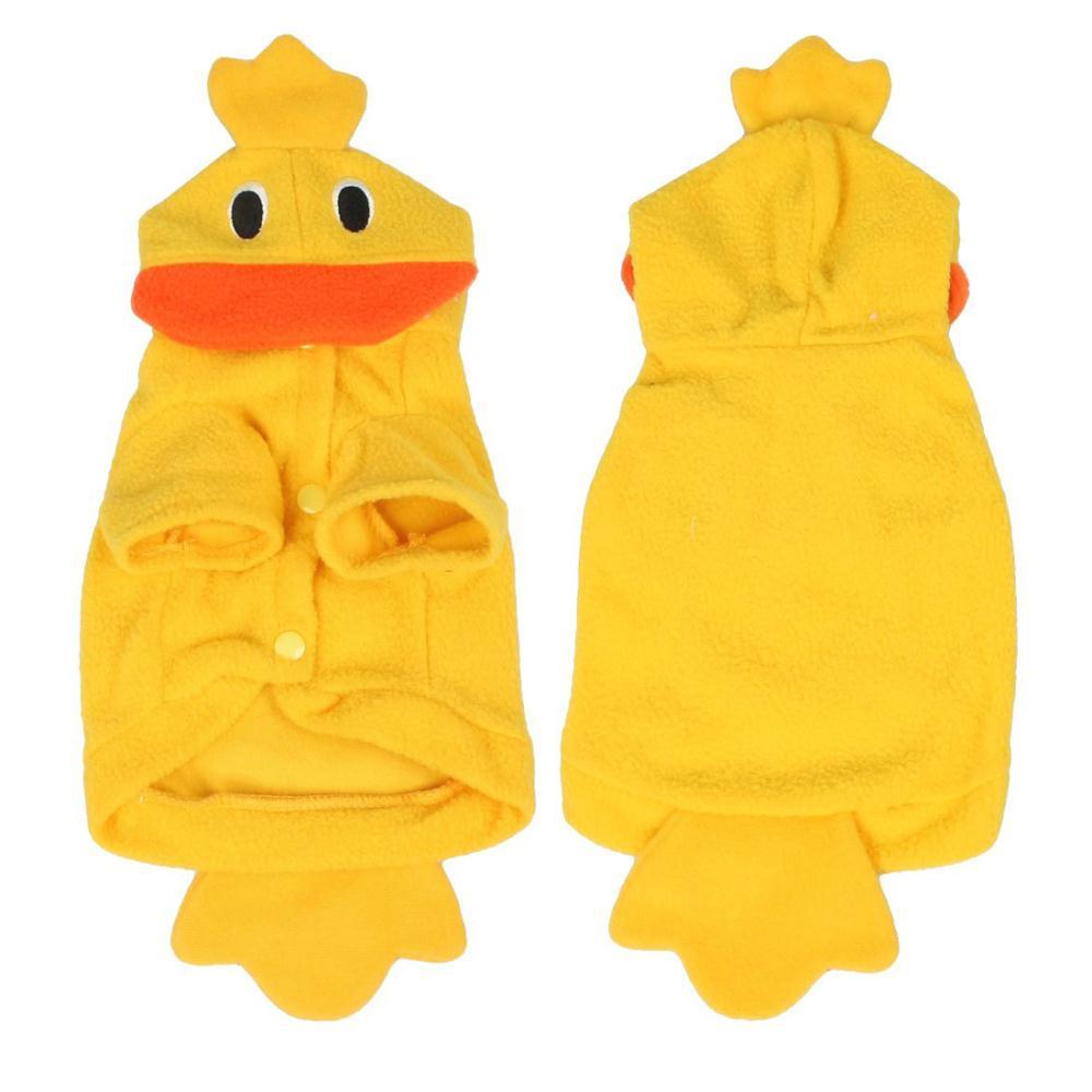 SAF Wholesale Halloween Costume Duck Style Yellow Fleece Dog Clothes Coat XS(China (Mainland))