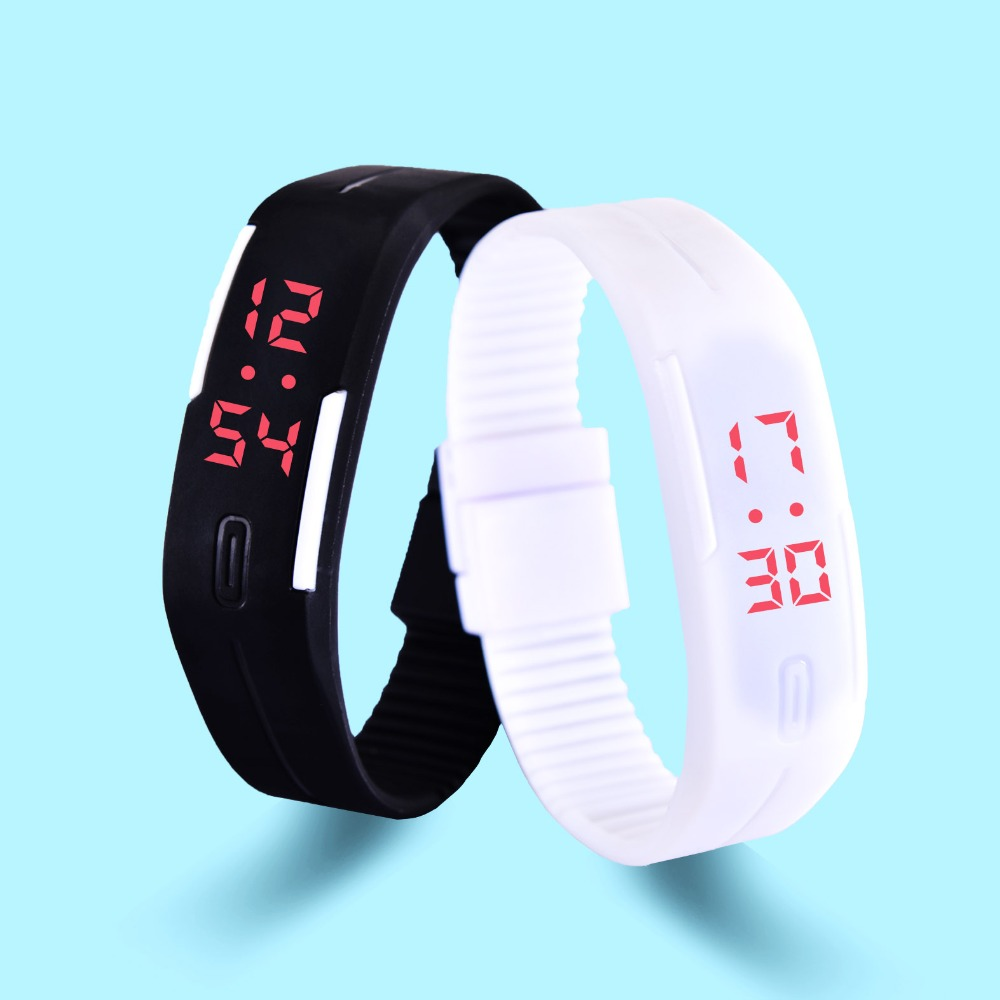 HEOCY New Fashion LED Bracelet Digital Watches For Men&Ladies&Child Clock Womens Rubber Sports Wrist