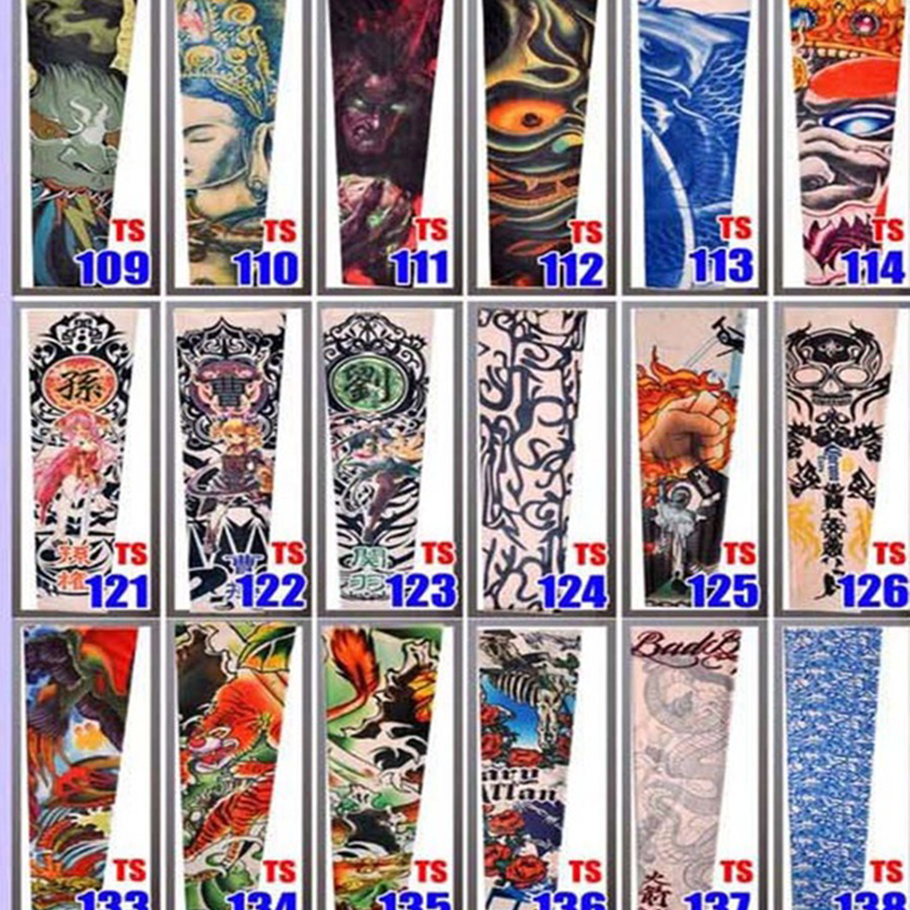 2016 New Styles Elastic Tattoo Sleeves Eagle Fight Snake Pattern Arm stocking 3D Art Design Seam Tatoo Arm Warmers Free shipping(China (Mainland))