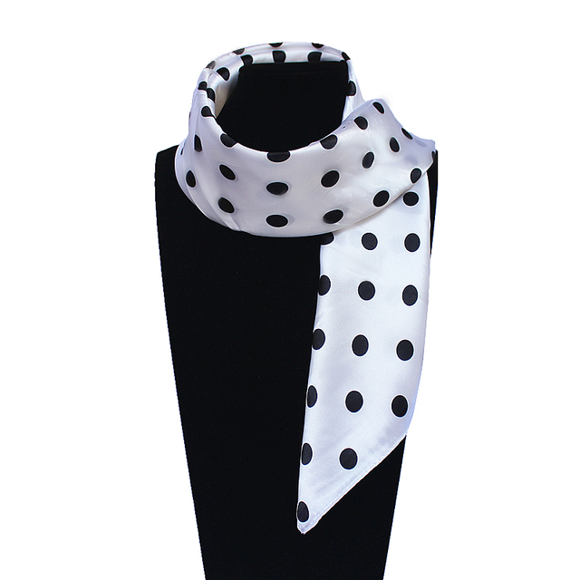 60 см * 60 см Женщины 2016 Новая Мода Имитационные Шелковый Dot Печатных Сплошной Цвет Офис Леди Платок Горячая продажа