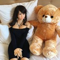 168cm Real full silicone sex dolls with skeleton lifelike anime oral love dolls full vagina pussy