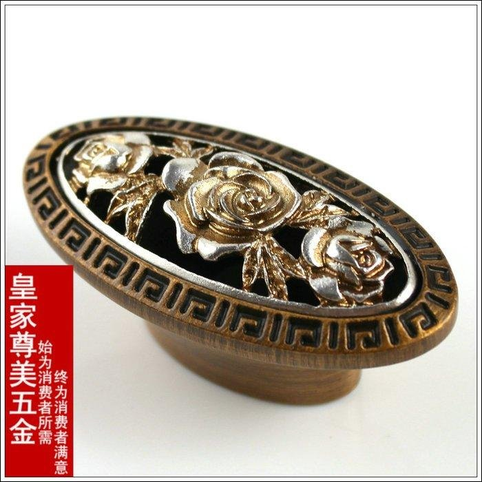 counter authentic antique carved bronze continental KF01-1 coffee handle wardrobe knobs cabinet drawer pull knob<br><br>Aliexpress