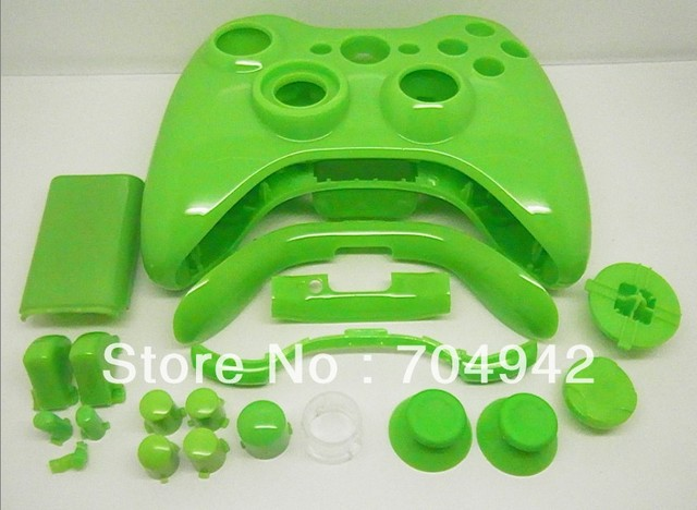 Glossy Color Paint Full Parts Designed fit for Xbox360 Wireless Controller Shell