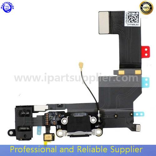 100% Guarantee Original Headphone Audio Jack Dock Connector Flex Cable iPhone 5S 5GS black/white - iPartsupplier Ltd store