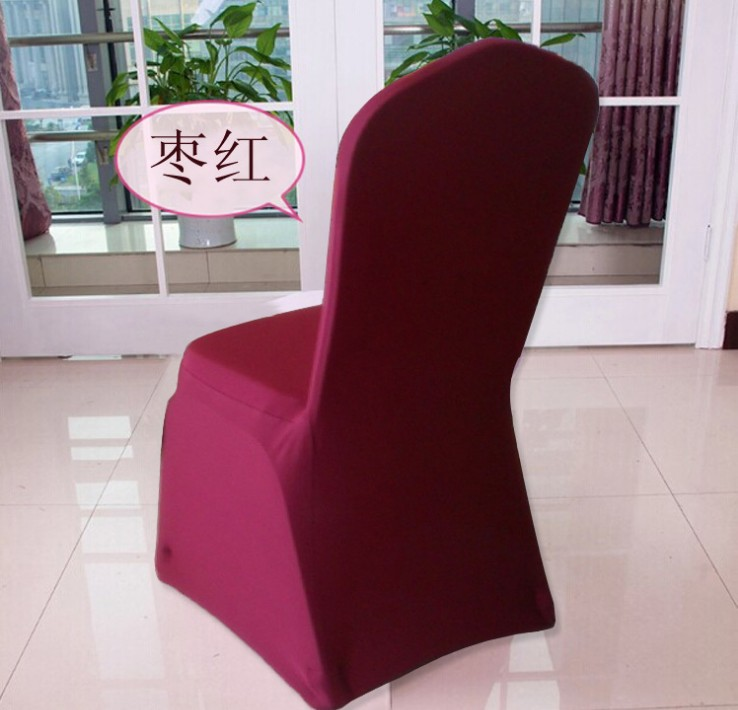 Universal White Polyester Spandex Wedding Chair Covers for Weddings Banquet F