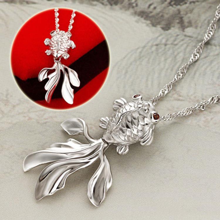 Fashion Goldfish Silver Fish Pendant Without Chain Diy ...