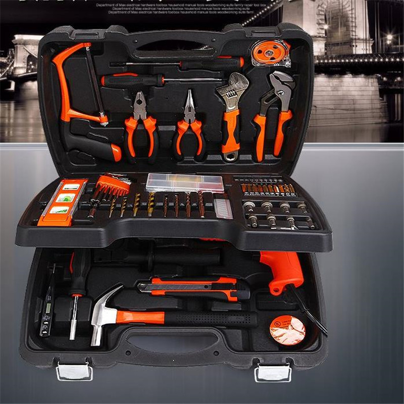 138 PCS Multifunctional Tool Kit Hardware Home Kit Woodworker Metal Produce DIY Tools Including Drill Sets Electrical Tools(China (Mainland))