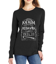 Buy 2017 spring autumn new fashion 100% cotton Avada Kedavra Bitch harajuku long sleeve femme hipster funny t shirts brand clothing for $7.67 in AliExpress store