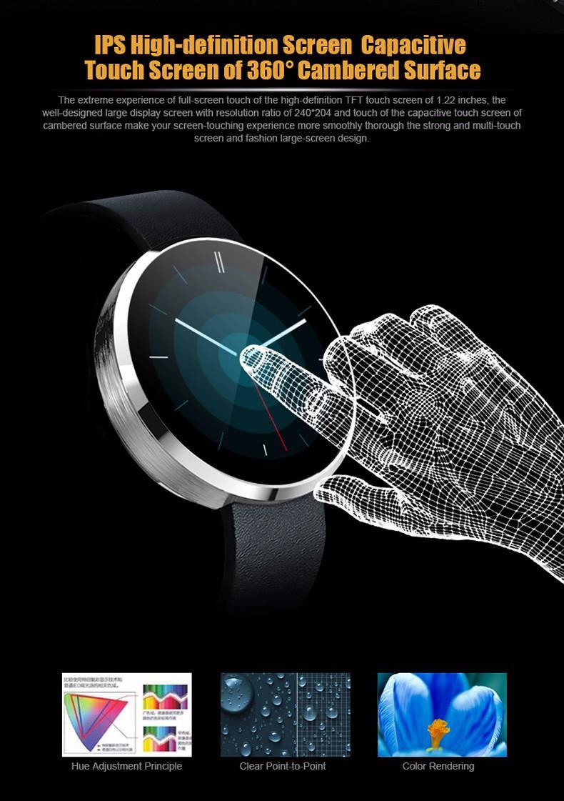 ถูก บลูทูธดูสมาร์ทสำหรับA Ndroid/iosโทรศัพท์นาฬิกาซิงค์เพลงโทรSMS Pedometerการนอนหลับการตรวจสอบอัตราการเต้นหัวใจทดสอบvs f69 u8 gt08