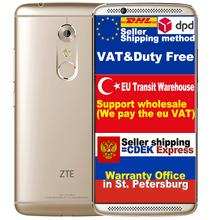 Original ZTE AXON 7 A2017 Qualcomm Snapdragon 820 Qual Core CPU 4G RAM 128G ROM 5.5 inch 2560*1440 LCD 8M 20M Camera 3250mAh Bat