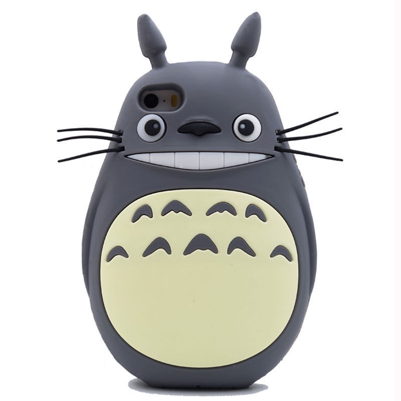 2017 3D Japan fashion cartoon forest animals fairy tale panda bear cute genius totoro soft silicone cell phone case For Iphone(China (Mainland))