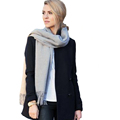 Brand Fashion Solid Gray Scarf Cashmere Pashmina Designer Blanket Shawl Unisex Thicken Handkerchief Soft Winter Hijab