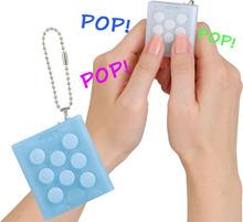 Bandai Mugen Puti Puti Bubble Pop Keychain,Electronic Bubble Wrap Puchi Puchi Keyring Infinite squeeze Bubble Decompress Speaker