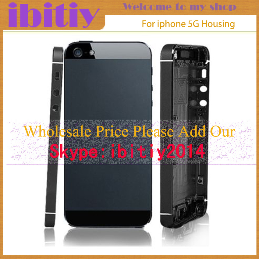 Replacement For IPhone 5 5G Back Cover Housing Battery Cover Door Back Cover Black Cover Free Shipping(China (Mainland))