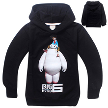 Long Sleeve  Big hero 6 Baymax Sweatshirts Casual Outwear Children Boys Spring Autumn Coat Kids Moletons Sudaderas con capucha(China (Mainland))