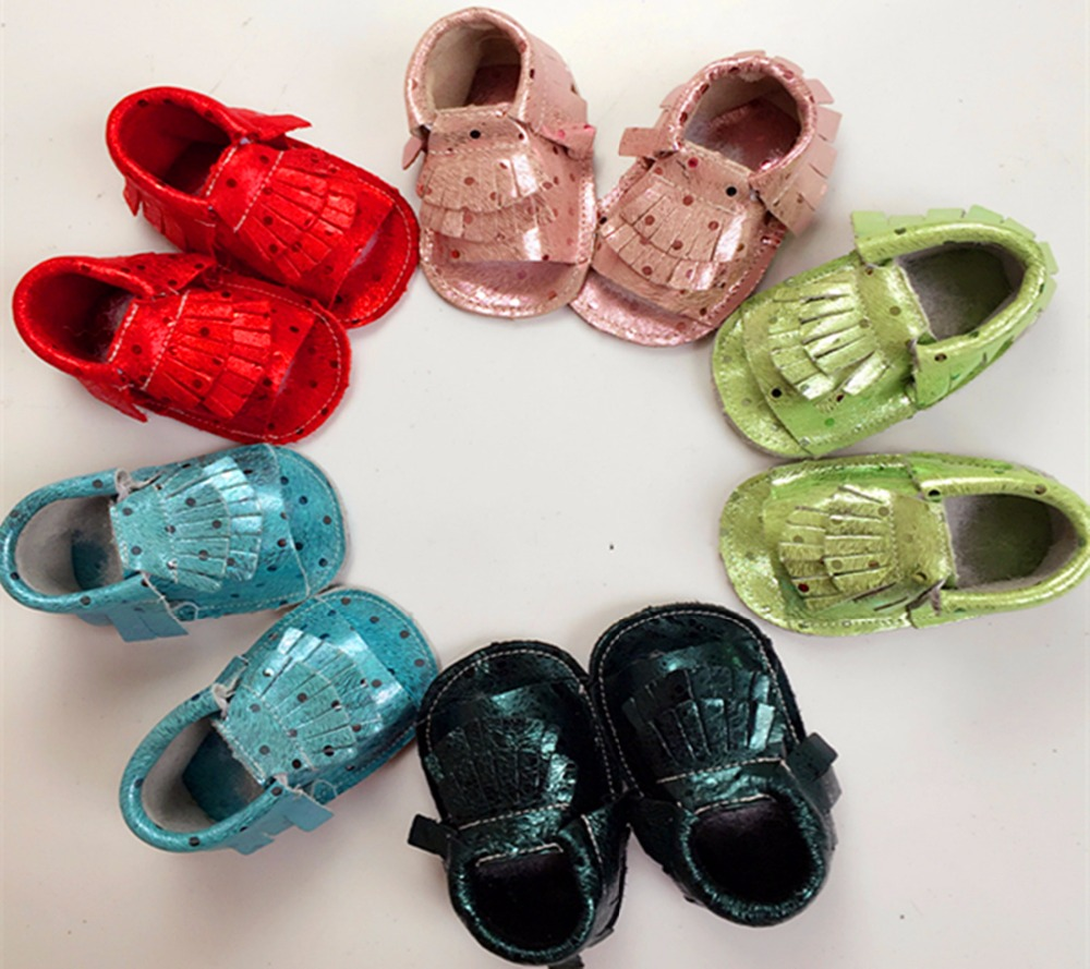 wholesale 50pairs lot glitter polka dot baby dress shoes