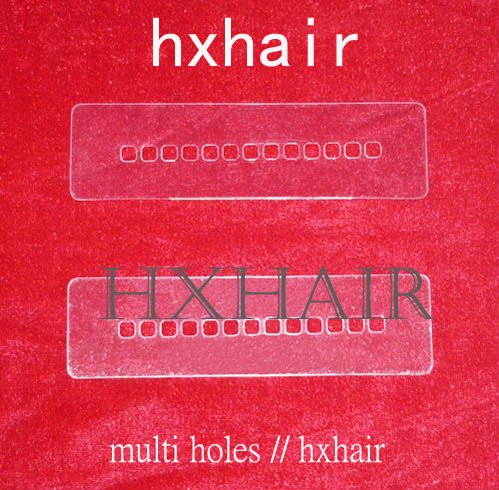 Freeshipping - 100pcs Multi Holes Template / Heat Shield Spacer Separator / Hair Extension Tools