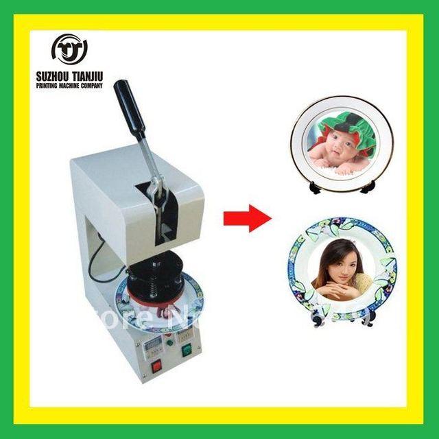 TJ plates  heat  transfer  machine,plates heat press machine,DIY plates 350W 110V/220V